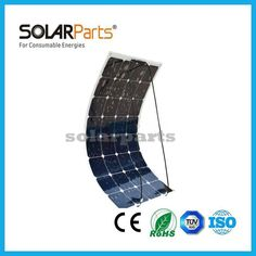 100W semi flexible solar panels sunpower solar cells solar modules for RV/Boat/Golf cart/Marine/Yachts/Home use aa solar charger