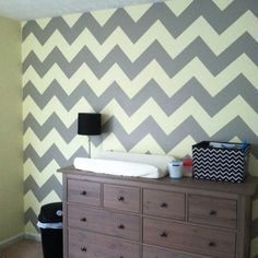 Chevron striped wall... maybe for the den/study