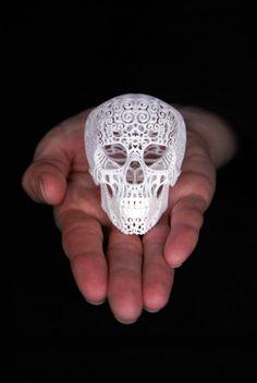 Skull Sculpture Crania Anatomica Filigre mini by shhark on Etsy, $65.00