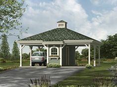 Plan 10 121 Just Garage Plans 2 Car Carport Double