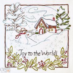 Joy to the World - 100% Cotton Embroidery Pattern. $10.00, via Etsy.