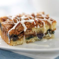 Blueberry Streusel Coffee Cake Try other seasonal fruits, such as apples or pears, in this moist and tender cake. Use just enough sliced, peeled fruit to cover the entire surface of the cake batter, and then top with the cinnamon-flavored streusel.
