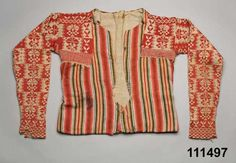 Digitalt Museum - Tröja ursprungligen från ca 1790 Ovanåker Norwegian Knitting, Swedish Fashion, Monochrome Outfit, How To Purl Knit, Folk Costume, Historical Clothing, Traditional Outfits, Bunt, Knitwear