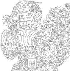 Amazon.com: Navidad para colorear libro para adultos: Una festiva estrés Alivio Coloring Book (9780692803776): Adulto Coloring Book Designs: Libros