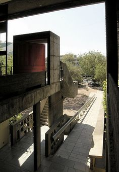 Ahmedabad India Le Corbusier by Hercio Dias India Architecture, Space Architecture, Architecture Details, Chinese Architecture, Futuristic Architecture, Le Corbusier, Modern Buildings, Beautiful Buildings, Office Buildings