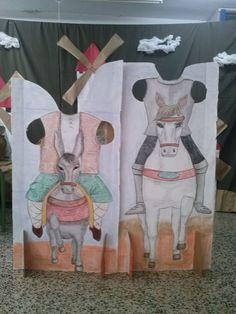 """Maquetas para obra de teatro """"El caballero don Quijote"""" representada por alumnado de tercer ciclo."""