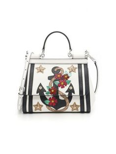 DOLCE & GABBANA Mini Sicily Bag. #dolcegabbana #bags #shoulder bags #hand bags #lining #leather #cotton #