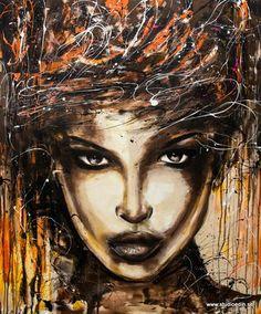 Thunder 120x100cm acrylic painting by Edin Dzanic @Wendy Felts Werley-Williams.studioedin.se