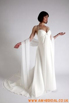 wholesale spaghetti Empire Halter V-neck Chiffon Pregnant Wedding Dress floor length