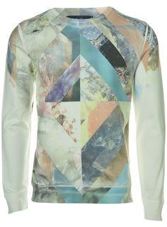 TOPMAN  Crystal Galaxy Sublimation Print Sweatshirt