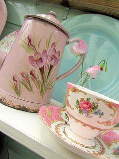 pink crockery love