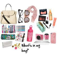 """""""<3 What's in my bag? @Polyvore."""""""