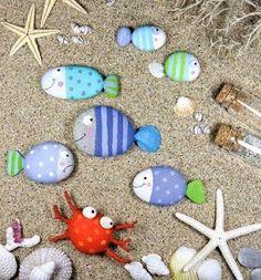 Coastal Decor, Beach, Nautical Decor, DIY Decorating, Crafts, Shopping | Completely Coastal Blog: Decorate with Painted Beach Rocks