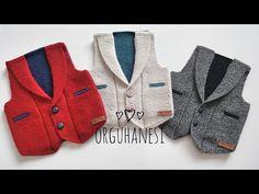 Crochet, Men Sweater, Sweaters, Youtube, Fashion, Knit Patterns, Vest Coat, Boleros, Knitted Baby
