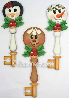 Holly Honeys Key Ornaments