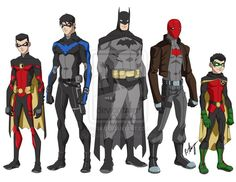 young justice how many batman are there? - Google Search