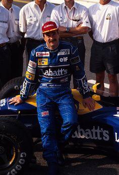 – 1992, Deutschland GP, Hockenheim, Nigel Mansell, Williams — Subaru, Toyota, Audi, Racing Car Design, Williams F1, Nigel Mansell, Formula 1 Car, Checkered Flag, F1 Drivers