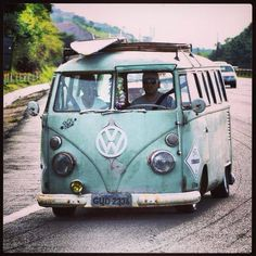 #VW #Bus headed for the #Beach! #BusandBoards #Adventure #RoadTrip