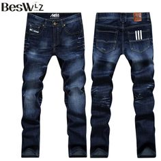 Men's Beswlz Ripped Casual Fashion Classical Denim Jeans