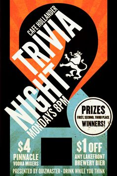 Trivia Night By Rev Pop
