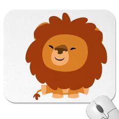 León mimoso lindo Mousepad del dibujo animado