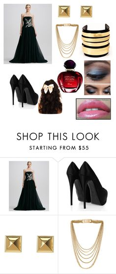 """""""Ball"""" by miss-blackrose ❤ liked on Polyvore featuring Pamella Roland, Giuseppe Zanotti, Michael Kors, Chanel and Christian Dior"""
