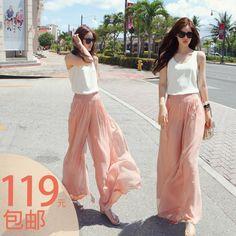 2012 AMIO fashion women chiffon trend skirt female bohemia fluid maxi long dresses skirts beach long dress , free shipping-inDresses from Apparel & Accessories on Aliexpress.com