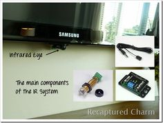 Sep 2016 - I HATE wires and cords. I also hate looking at the cable box and DVD player. My new mantle is cord free and box free. It's neat, clean and tidy. Hide all your electronics very easy. See how it's done at Recaptured Charm. Hide Tv Wires, Hide Tv Cables, Hide Cable Box, Tv Cords, Hiding Wires, Tv Mantle, Tv Over Fireplace, Fireplace Wall, Tv Above Mantle