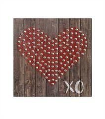 "Square MDF ""XO"" Wall Décor w/ Heart"