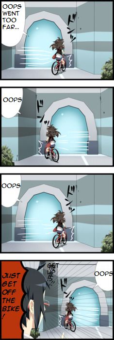 I WILL NEVER GET OFF THIS BIKE | This happens way too much to me in pokemon.
