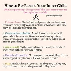Working with your inner child(ren) Inner Child Healing, Self Healing, Mental And Emotional Health, Mental Health Awareness, Coaching, Les Sentiments, Self Improvement Tips, Emotional Intelligence, Emotional Abuse