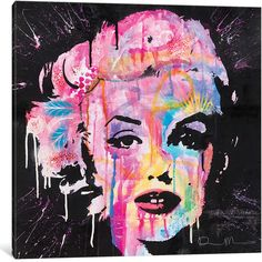 """iCanvas Marilyn Monroe by Dean Russo Canvas Print (Depth 0.75"""" ($85) ❤ liked on Polyvore featuring home, home decor, wall art, filler, art, abstract home decor, marilyn monroe wall art, marilyn monroe home decor, abstract wall art and unframed wall art"""