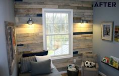 Cool plank wall with lights