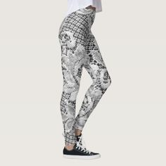 WhiteLace Leggings - lace gifts style diy unique special ideas