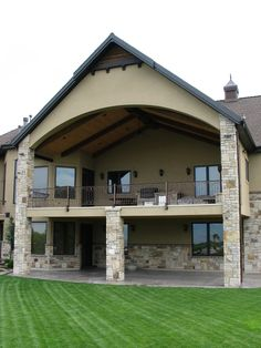Back Patio in Utah.  Home built by Cameo Homes Inc.