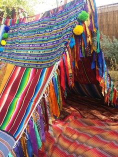 Boho tent teepee Indian Festival Tribal Aztec by HippieWild