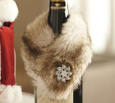 nice presentation for a gift bottle--looks like i need to buy a piece of fake fur.
