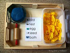 Bird themed spelling activity with free printable