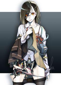android bag blood bra brown_hair collarbone dress_shirt glasses kyo_(kuroichigo) light_smile l Robot Concept Art, Environment Concept Art, Chica Cyborg, Chica Anime Manga, Anime Art, Fantasy Characters, Anime Characters, Character Concept, Character Art
