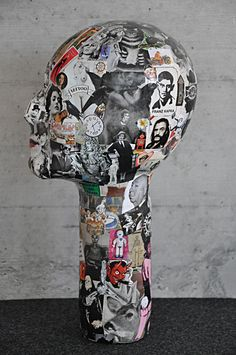 imhotep, paper mache hatstand, by molekuele (sonja grandits) https://www.facebook.com/molekuelen