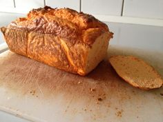 Low carb protein bread made with red bell pepper