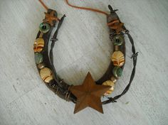 crafts horseshoe and beads - Google Search