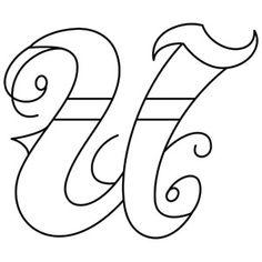 Letter U Tattoo Design...