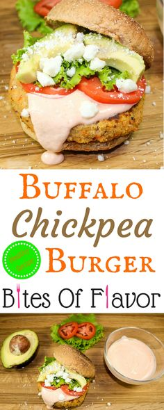 Buffalo Chickpea Burgers-Full of all the buffalo taste you love, low-fat, &packed with flavor.  PERFECT for your next football party!  Weight Watcher friendly (10 SmartPoints).