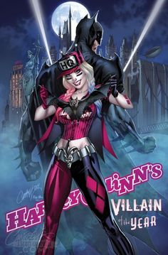 Harley Quinn - Villain of the Year - Complete Cover Checklist J. Scott Campbell, Harey Quinn, Batman Comic Art, Gotham Batman, Batman Robin, Gotham Girls, Joker Und Harley Quinn, Joker Card, Marvel E Dc