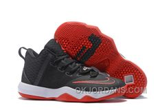 7eb2f52c695046 Nike Lebron Ambassador 9 Zoom Air Men Black Red White Lastest