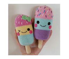 ICE LOLLIES  PDF Pattern amigurumi crochet by SuperCuteDesignShop
