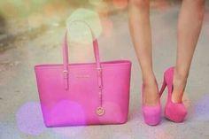 Pink #handbag & #shoes