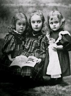 sisters in tartan ... c. 1890