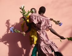 Grace Bol and Alek Wek - spring/summer 2017 All clothes Andreas Kronthaler for Vivienne Westwood, waist-high boots VETEMENTS × Manolo Blahnik Waist High Boots, Fashion Shoot, Editorial Fashion, Women's Fashion, Beauty Editorial, Flower Fashion, Fashion Lookbook, Fashion Editorials, Fashion Models